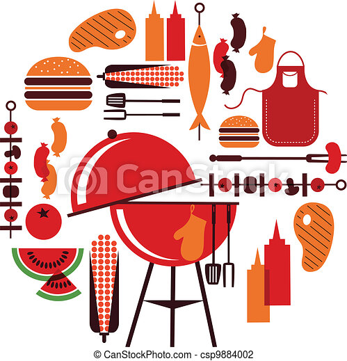 set of bbq objects - csp9884002