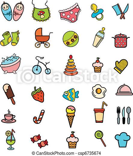 Set of beautiful icons - csp6735674