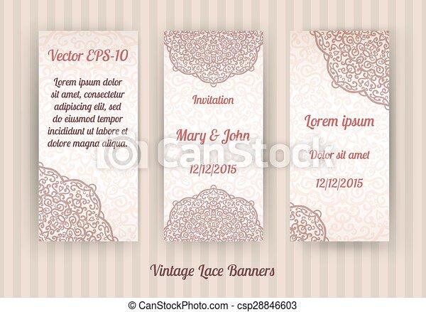 set of beautiful invitation cards - csp28846603
