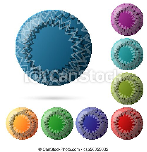 Set of beautiful multicolored buttons for your website design. Vector - csp56055032