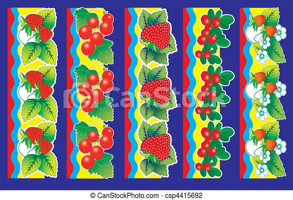 Set of berries. - csp4415692