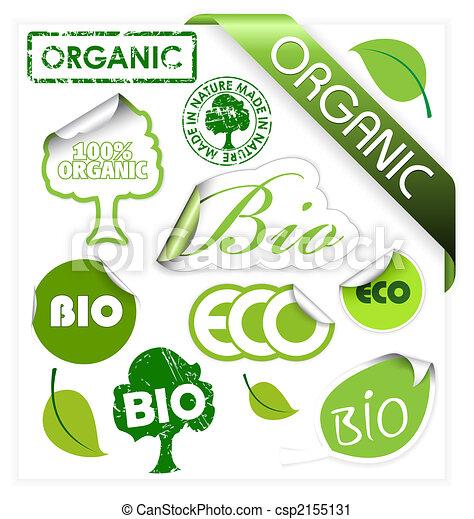Set of bio, eco, organic elements - csp2155131