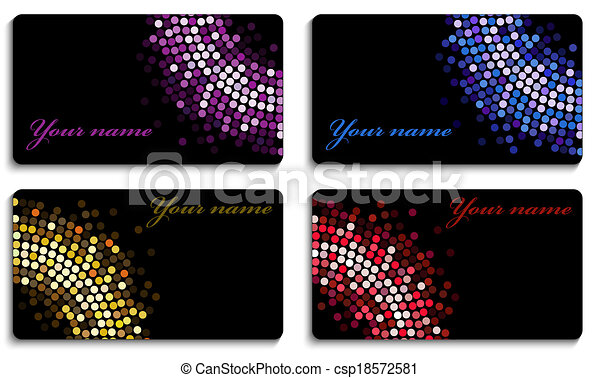 Set of black business cards - csp18572581
