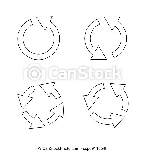 Set of black circle vector arrows. Vector Icons - csp69118548