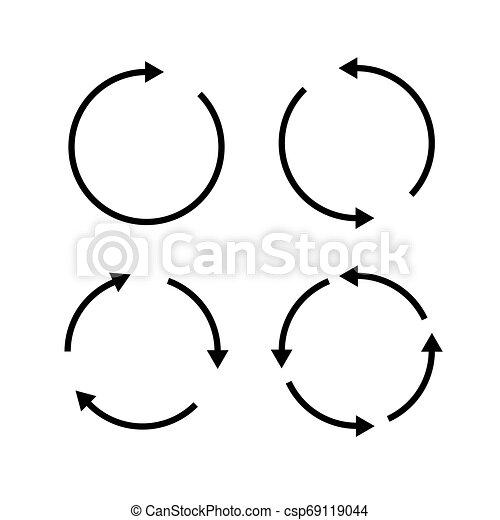 Set of black circle vector arrows. Vector Icons - csp69119044
