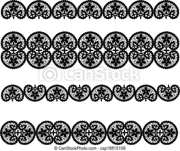 Set of black lace - csp18815109
