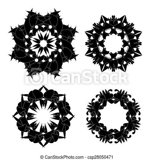 Set of Black Ornaments - csp28050471