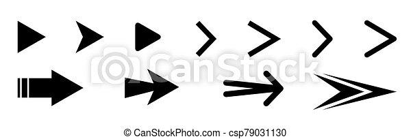 Set of black vector arrows icons - csp79031130