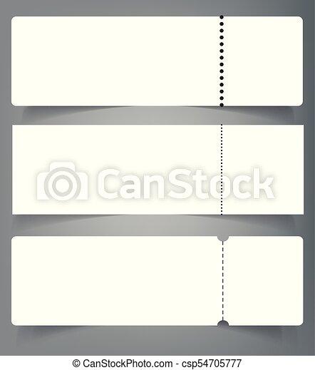 Set of blank event concert ticket mockup template. concert ...
