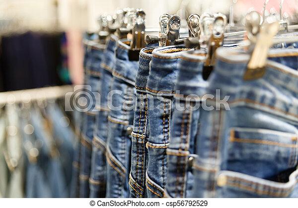 Set of blue jeans - csp56792529
