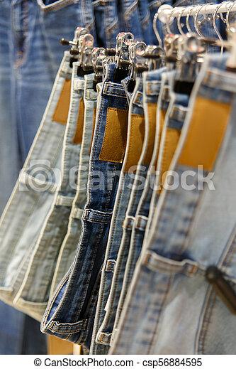 Set of blue jeans - csp56884595