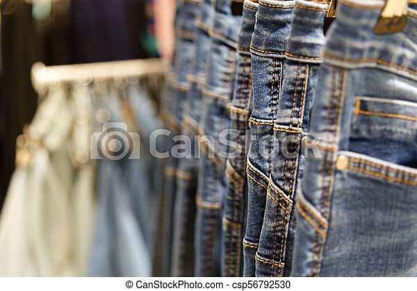 Set of blue jeans - csp56792530