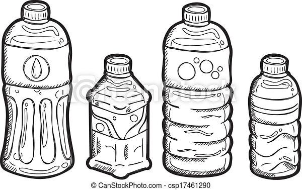set of bottle doodle - csp17461290