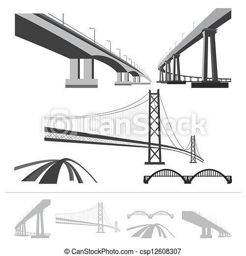 set of bridges - csp12608307