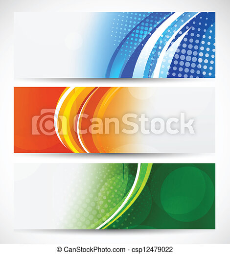 Set of bright banners - csp12479022