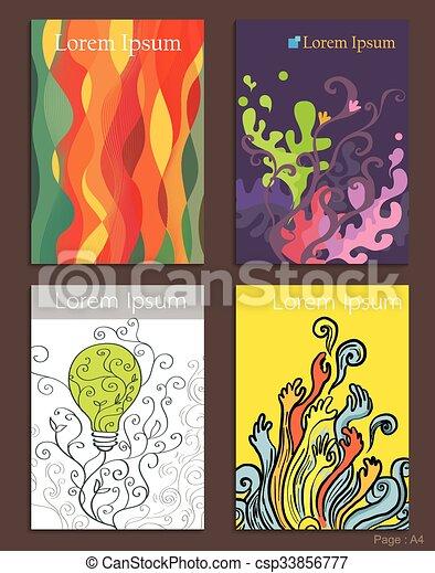 Set of Brochure Design abstarct art - csp33856777