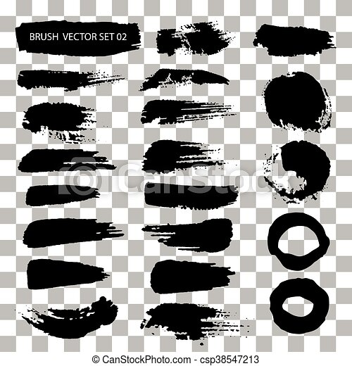 set of brush stroke vector stains isolated vector clip art search rh canstockphoto ca brush stroke vector illustrator brush stroke vector art