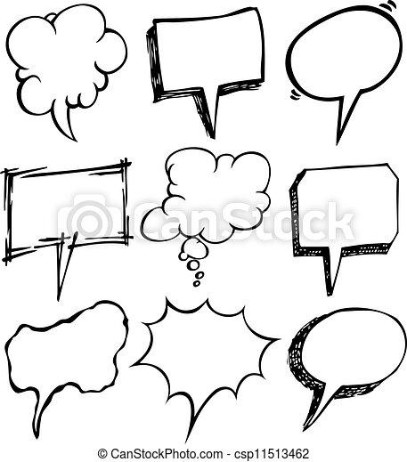 set of bubble speech doodle - csp11513462