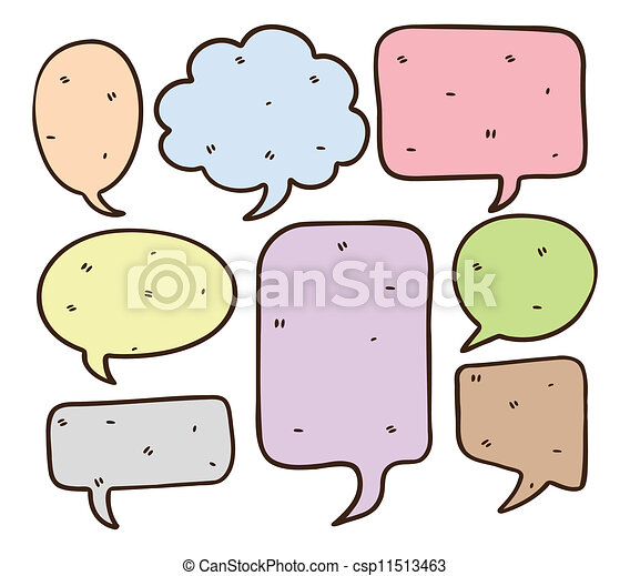 set of bubble speech doodle - csp11513463