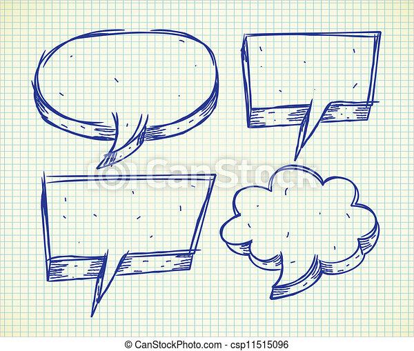 Set of bubble speech doodle - csp11515096