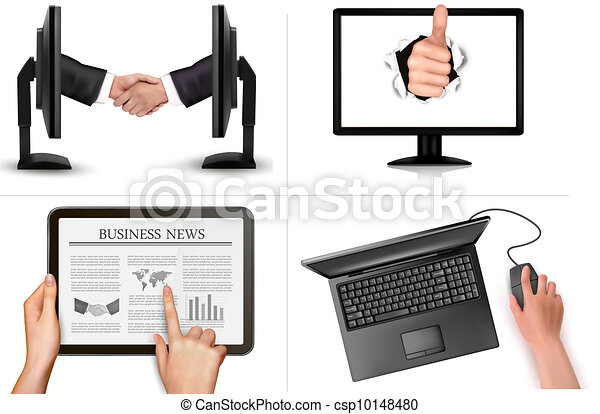 Set of business  backgrounds - csp10148480