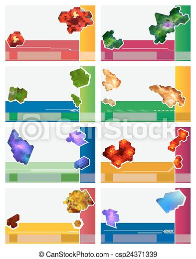 Set of business cards abstract backgrounds set ofvector vectors set of business cards abstract backgrounds csp24371339 colourmoves Images