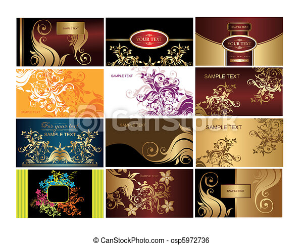 Set of business cards - csp5972736