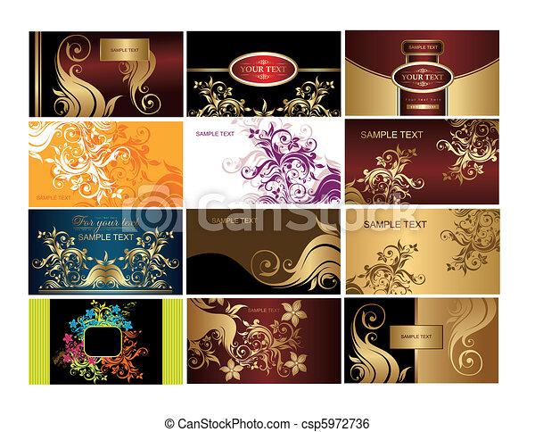 Set of business cards - csp5972736