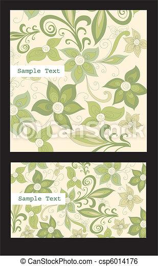 Set of business cards - csp6014176