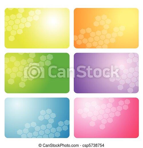 Set of business cards - csp5738754