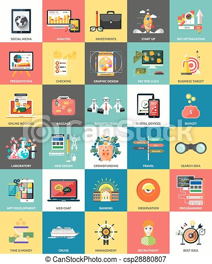 Set of business concepts icons - csp28880807