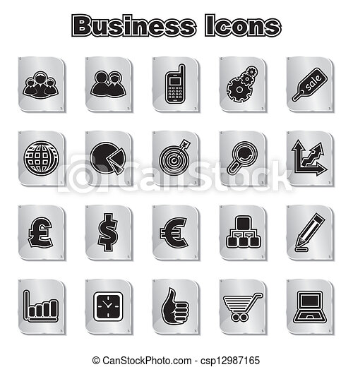 Set of Business Icons - csp12987165