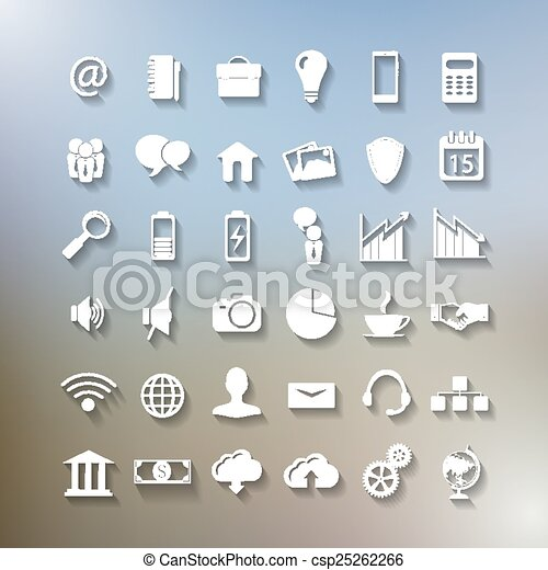set of business icons - csp25262266