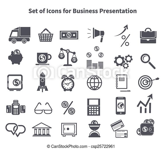 Set of business icons - csp25722961