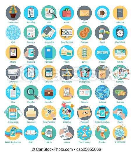 Set of business icons - csp25855666