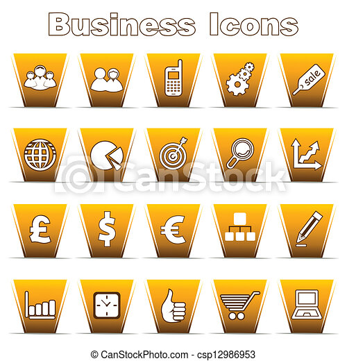 Set of Business Icons - csp12986953