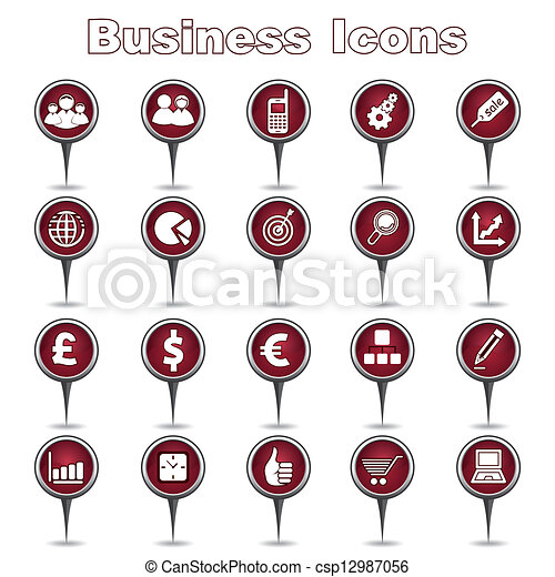 Set of Business Icons - csp12987056