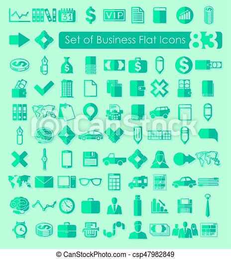 Set of business icons - csp47982849