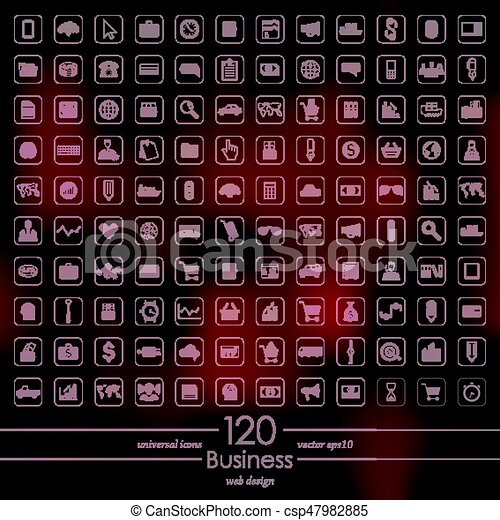 Set of business icons - csp47982885