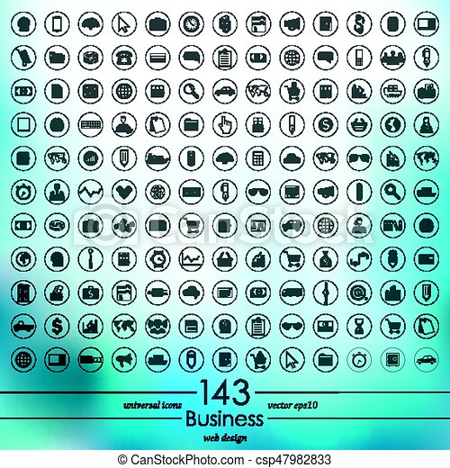Set of business icons - csp47982833
