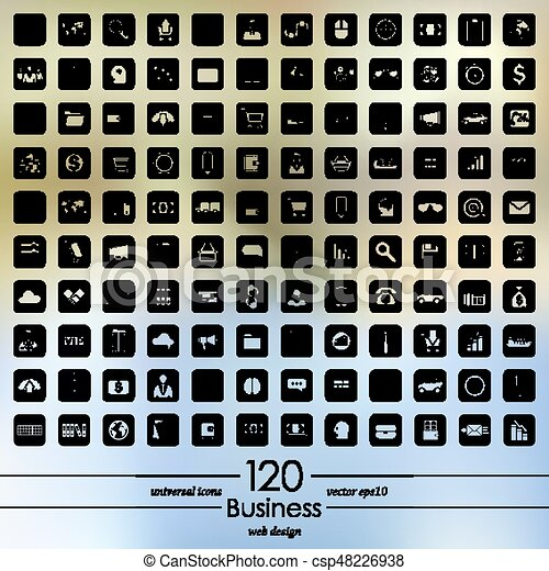 Set of business icons - csp48226938