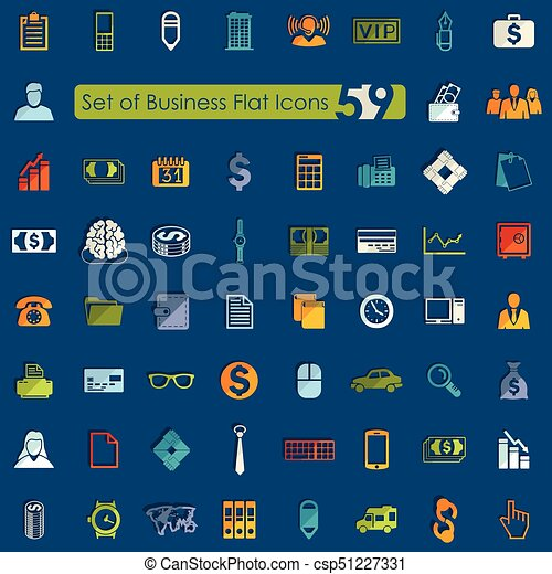 Set of business icons - csp51227331