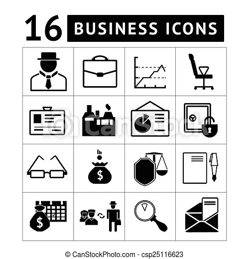 Set of business icons - csp25116623