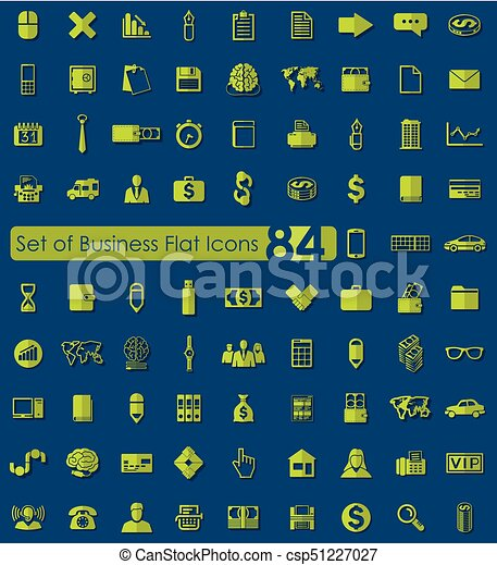 Set of business icons - csp51227027