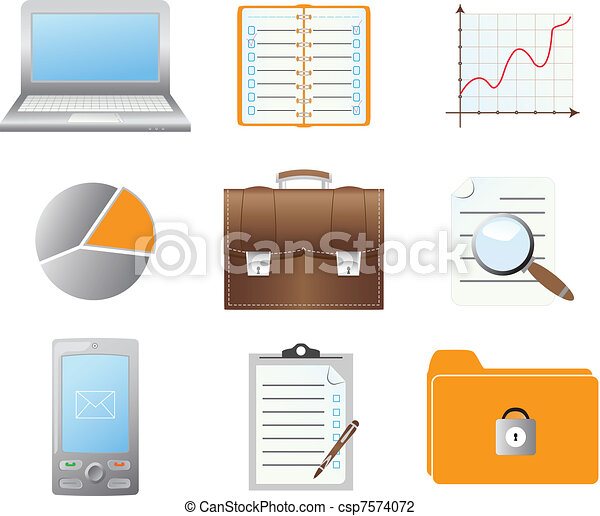 Set of business icons - csp7574072