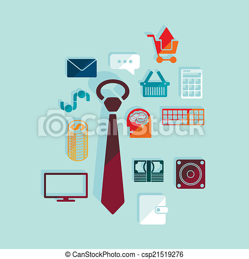 Set of business icons - csp21519276