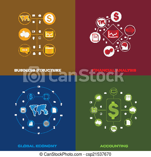 Set of business icons - csp21537670