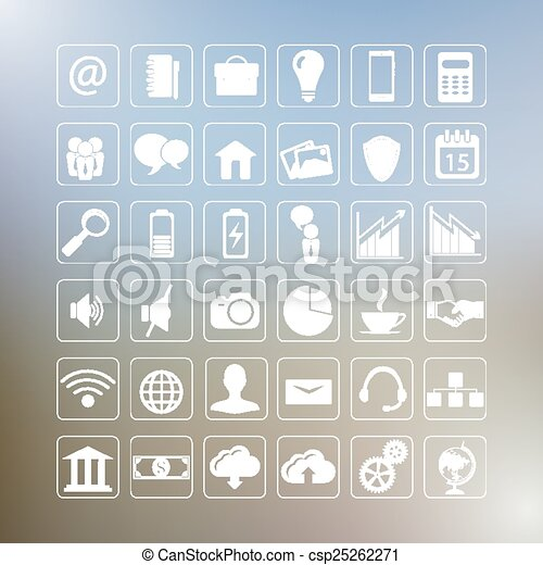 set of business icons - csp25262271