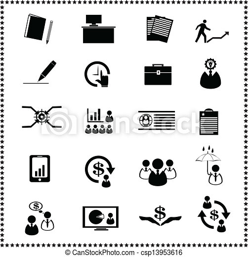set of Business icons - csp13953616
