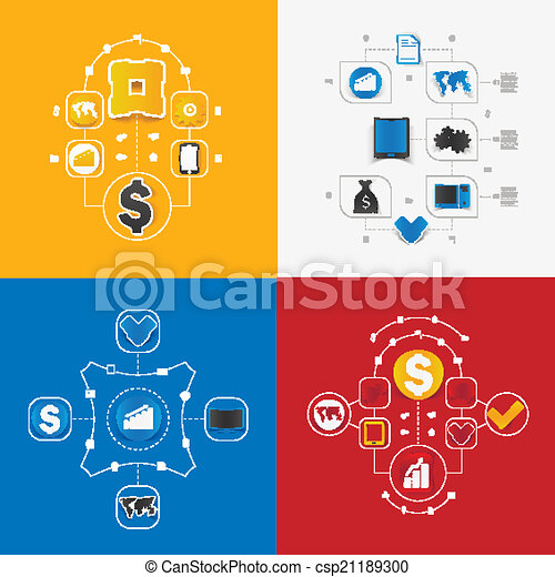 Set of business icons - csp21189300